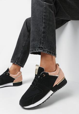 Czarno-Różowe Buty Sportowe Roseris