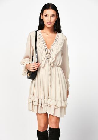 Beżowa Sukienka Dorylia