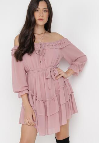 Różowa Sukienka Camsuy