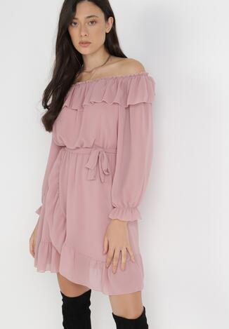 Różowa Sukienka Elshaff