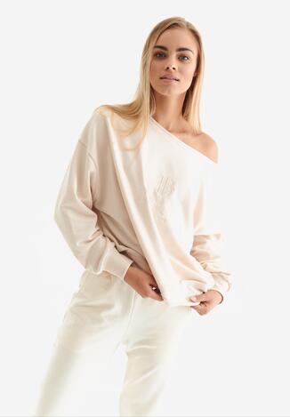 Beżowa Bluza Badura Velylia