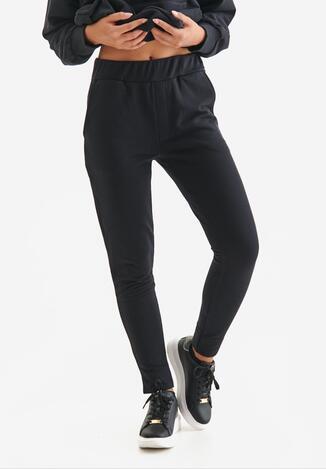 Czarne Spodnie Dresowe Badura Desena