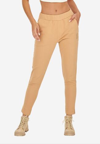Camelowe Spodnie Dresowe Badura Desena