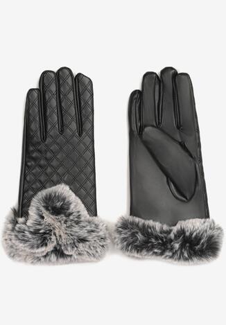 Czarne Rękawiczki Mesalin