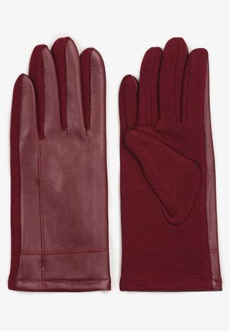 Bordowe Rękawiczki Aroene