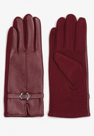 Bordowe Rękawiczki Ialyth