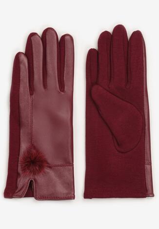 Bordowe Rękawiczki Savyth