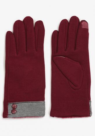 Bordowe Rękawiczki Cylya