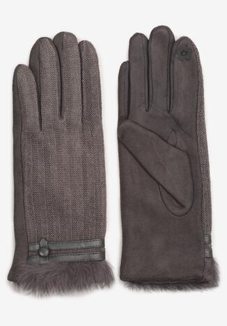 Szare Rękawiczki Illiane
