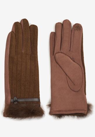 Brązowe Rękawiczki Illiane