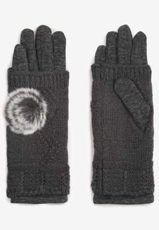 Ciemnoszare Rękawiczki Cecial