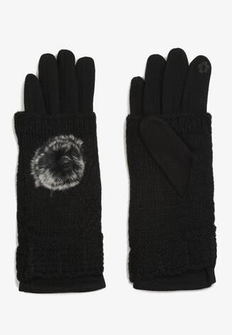 Czarne Rękawiczki Cecial