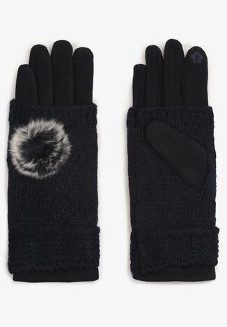 Granatowe Rękawiczki Cecial
