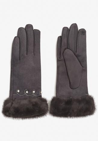 Ciemnoszare Rękawiczki Bera