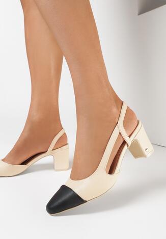 Beżowe Sandały Selaut