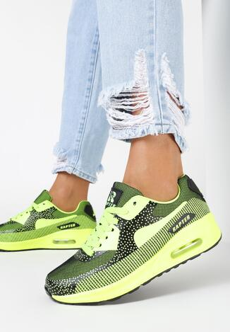 Limonkowe Sneakersy Corralei