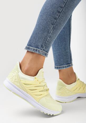 Żółte Buty Sportowe Blossom Spring