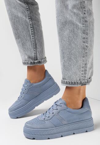 Niebieskie Sneakersy Try to Forget