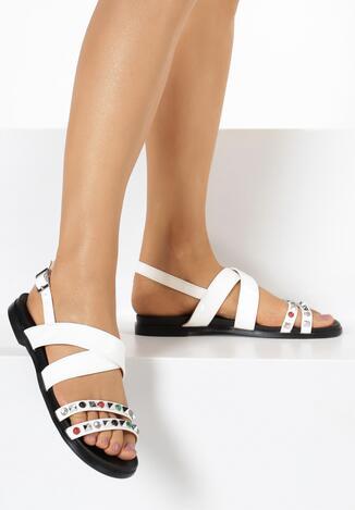 Białe Sandały Looped