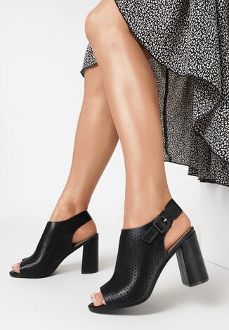 Czarne Sandały Ruvyn