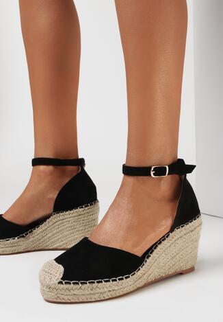 Czarne Sandały Eireneh