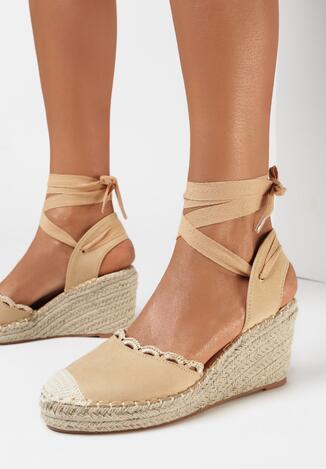 Beżowe Sandały Genilyn