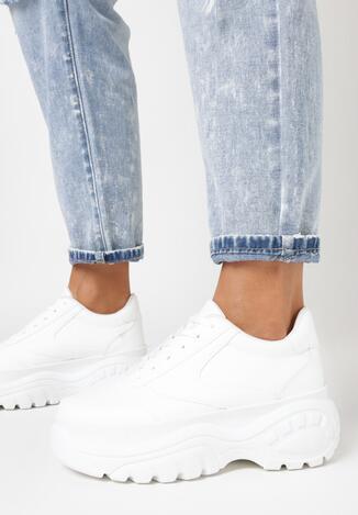 Białe Sneakersy Nude Mood