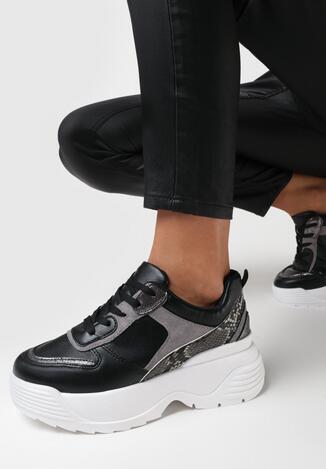 Czarne Sneakersy Birdbush