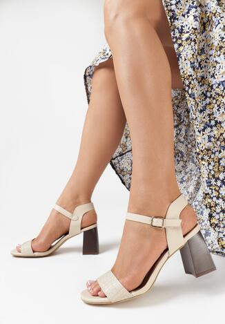 Jasnobeżowe Sandały Sherene