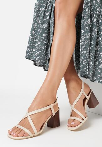 Beżowe Sandały Charelia