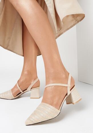 Beżowe Sandały Diafer
