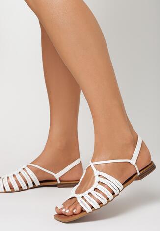 Białe Sandały Halishi