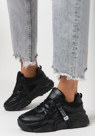 Czarne Sneakersy Radiancy