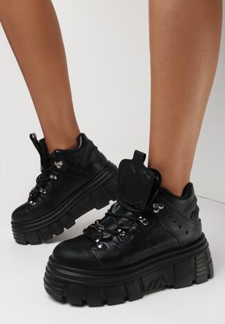 Czarne Sneakersy Ilathylia
