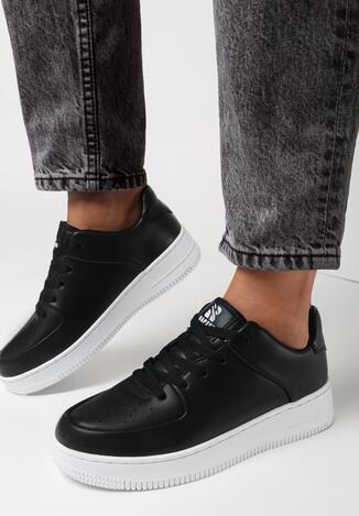 Czarno-Białe Buty Sportowe Covenroar