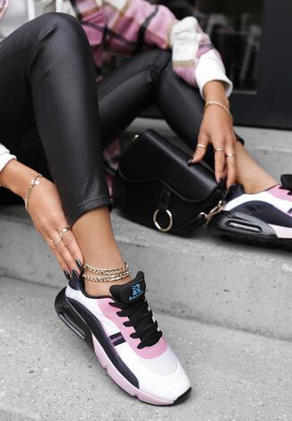 Biało-Różowe Buty Sportowe Daemyla