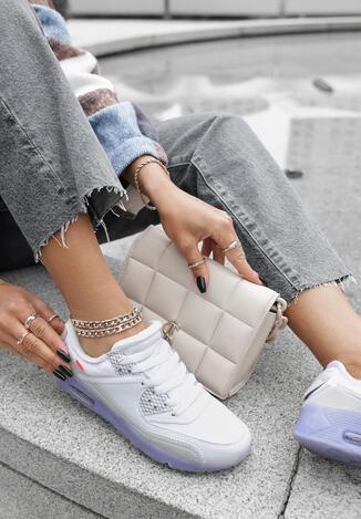 Biało-Niebieskie Buty Sportowe Nymerris