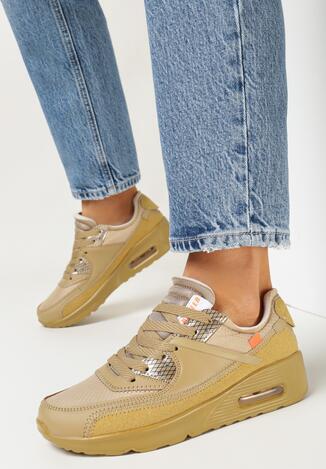 Beżowe Buty Sportowe Nymerris