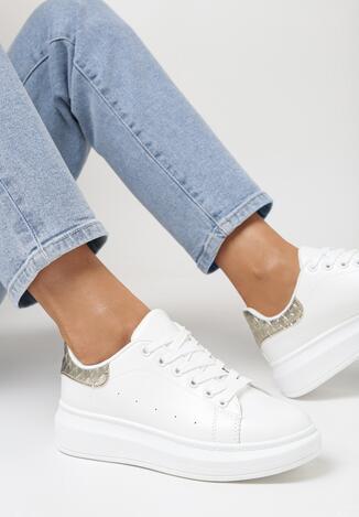Biało-Złote Sneakersy Hypnotic