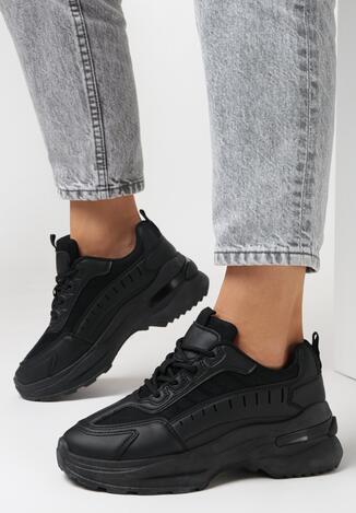 Czarne Sneakersy Physadorise