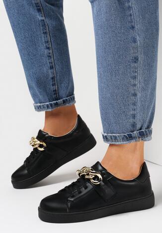 Czarne Sneakersy Artaera