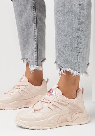 Różowe Sneakersy Echowen