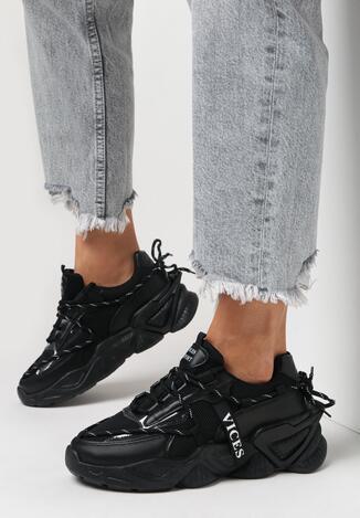 Czarne Sneakersy Arielody