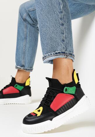 Czarne Sneakersy Dorice