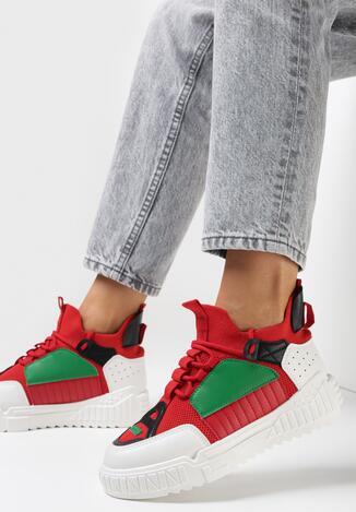 Czerwone Sneakersy Dorice