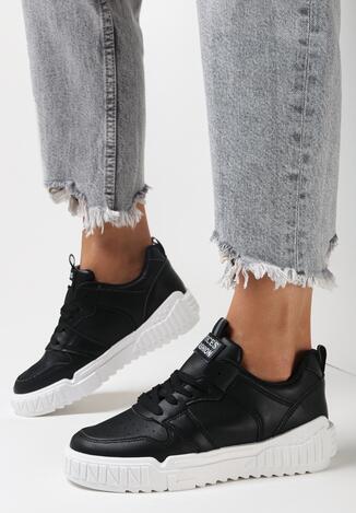 Czarne Sneakersy Delephone