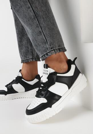 Czarno-Białe Sneakersy Delephone