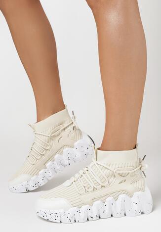 Beżowe Sneakersy Andrassa