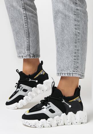 Czarne Sneakersy Kaliche