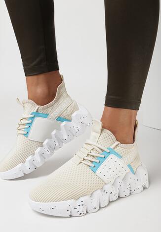 Beżowe Sneakersy Cythiera